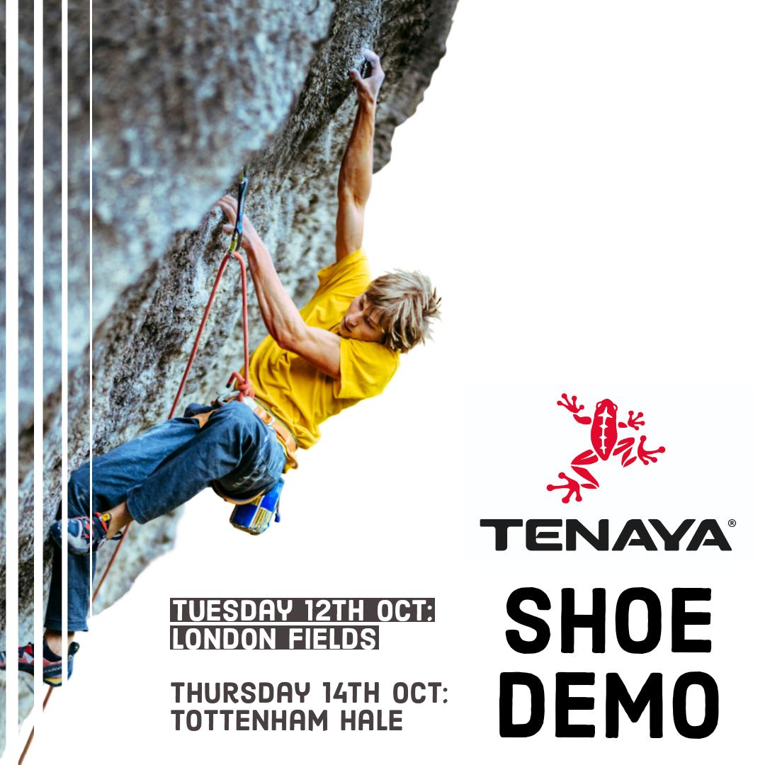 Tenaya Shoe demo poster